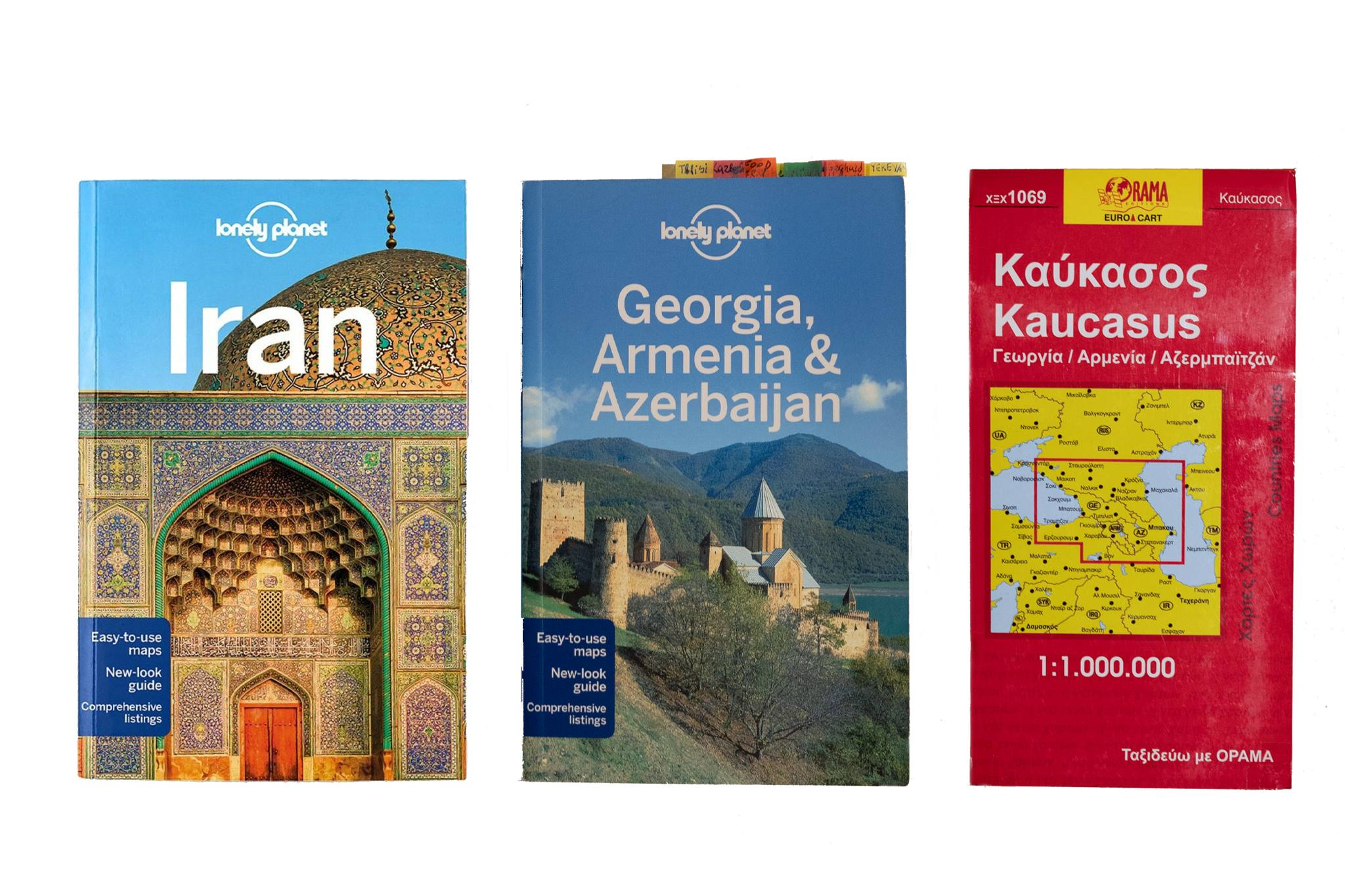 Iran book and map photo